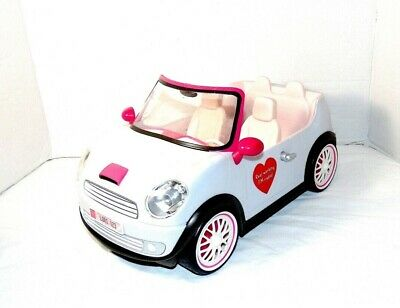 "Lori Doll Convertible Car Our Generation White fits 6"" Dolls Working Fm Radio!"