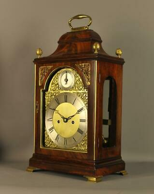 Mahogany Fusee Verge Repeating Bracket Clock