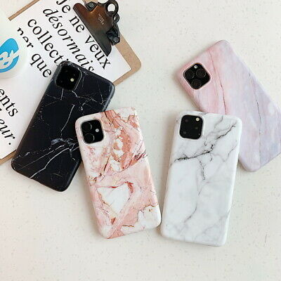 Pastel Marble Pattern Case Soft Rubber Cover For iPhone 11 Pro Max XS XR 8 7 6+