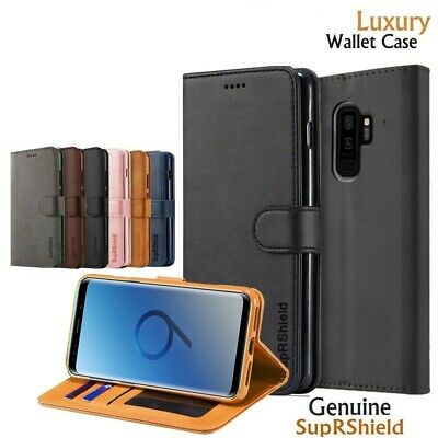 Samsung Galaxy S9 S8 S10 Plus S10e Magnetic Wallet Leather Case Flip Stand Cover
