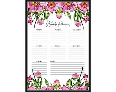 Floral Weekly Planner 3, Memo Pad, Notepad, Printable, Instant download, planner