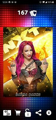 Topps WWE SLAM Digital 2019 NXT Celebration Gold Base Sasha Banks