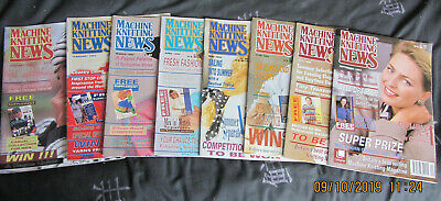8 Machine Knitting News Magazines 1993 Complete With Supplements