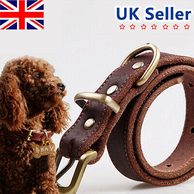 Personalised Dog Puppy Collar Tag Heritage Finest Quality Genuine Leather EBCA
