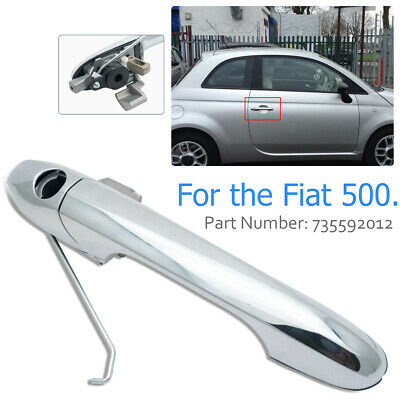 Outer Door Handle 735592012 Fit For Fiat 500 Offside Right Driver Side Chrome UK