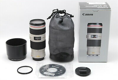 【Top MINT in BOX】 Canon EF 70-200mm f/4 L IS USM Lens w/ Hood ET-74 from JAPAN