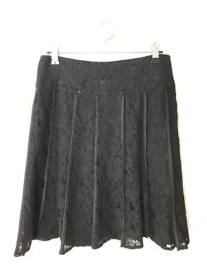 REVIEW | Women's Black Panelled Lace Skirt | Size 8 | Party Event A-Line Lined