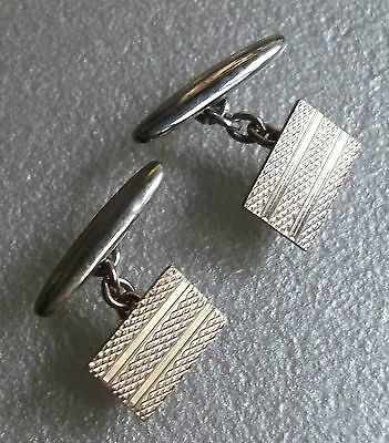 Cufflinks Vintage Mens Cuff Links 1970s GOLDTONE TRADITIONAL RECTANGLE