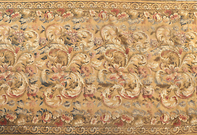 19th Century Tapestry Aubusson style Wall Hanging Upholstery Textile Needlework