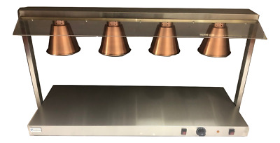 1Quantum CE ® Heated Carvery Display Hot Plate Copper Gantry 1310mm wide KSL-CD4