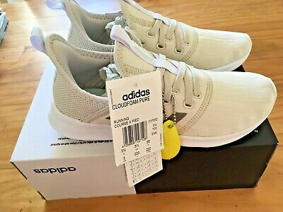 ADIDAS CLOUDFOAM PURE Trainers F37052 Shoes UK 3.5 NEW IN BOX BNIB OFF WHITE