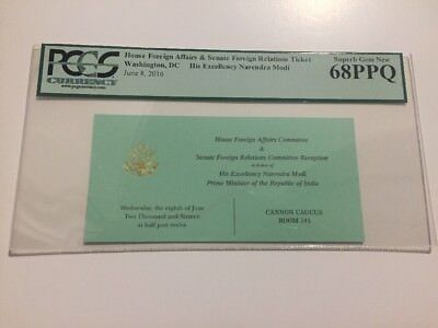 2016 Foreign Affairs Reception Ticket India Prime Minister Narendra Modi PCGS