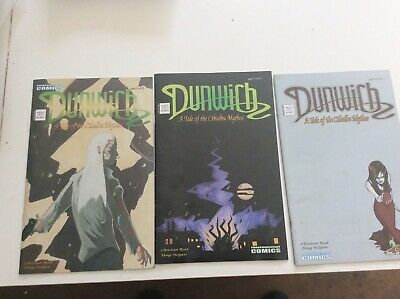 Dunwich A Tale Of The Cathlu Myths 3 Issue Set Of Comics Rare