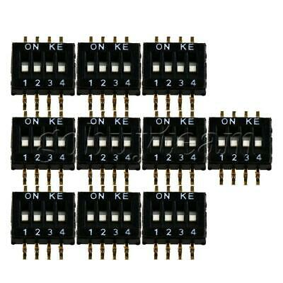 10x DIP Switch 1.27mm Pitch 4 Position 8 Pin Patch Coding Switches Black