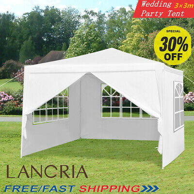 Gazebo Marquee Party Tent w/ Sides Waterproof Garden Patio Outdoor Canopy 3x3m S