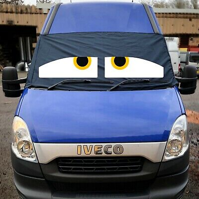 Iveco Black Out Blind Window Screen Cover Camper Van Curtains Wrap Eyes Yellow