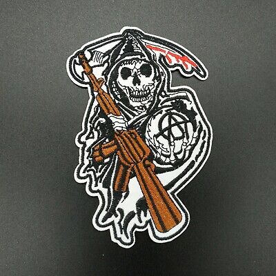 parche patch death soa sons of anarchy hijos anarquia planchar coser iron calor