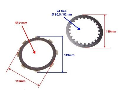 clutch plates and discs with springs for quad ATV200 250 cross bike
