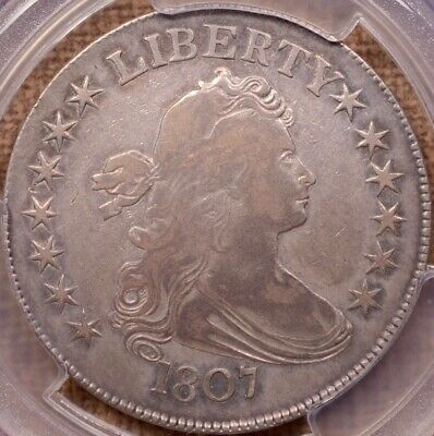 1807 O.101 R5 Draped Bust half, PCGS F12, Overton plate coin  DavidKahnRareCoins