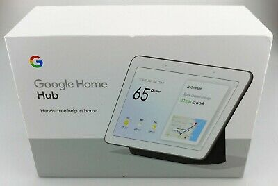 Google GA00515-US Home Hub with Built-In Google Assistant Charcoal New/Other