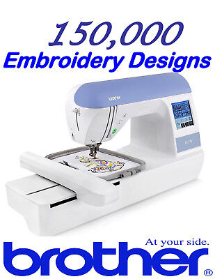 +150,000 PES Brother Embroidery Machine Designs on USB drive - LARGEST ON EBAY!