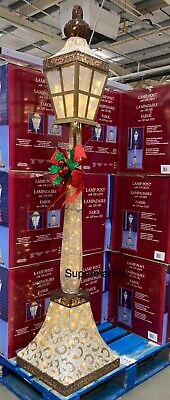 Brand New 6Ft Christmas Gold Lamp Post Outdoor/Indoor 120 Led  Fast Uk Seller