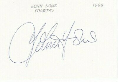Darts Legend JOHN LOWE SIgned Index Card