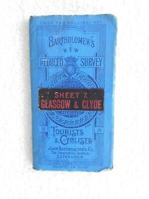 Bartholomews Map for Tourists and Cyclists  Sheet 7  Glasgow and Clyde (nd)