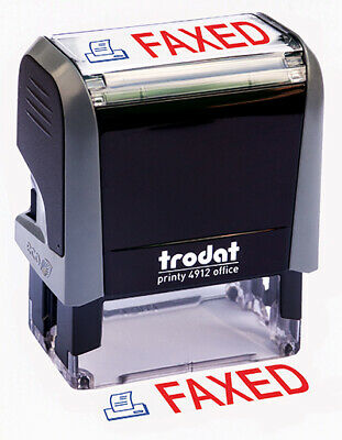 "Trodat ""FAXED"" Self Inking Rubber Stamp"