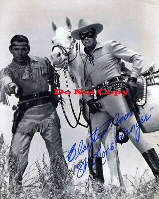 CLAYTON MOORE Autographed Signed 8x10 Photo Reprint