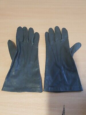 Vintage Pair of Dent Fownes Ladies PVC Gloves Grey - Size 7.5