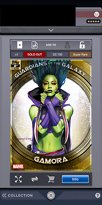 Topps Marvel Collect Digital Super Rare Gamora Guardians 2nd Printing CC750