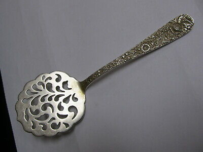 """S Kirk & Son Inc Repousse Sterling Silver Tomato Server 7 1/8"""" Xlnt Cond"""