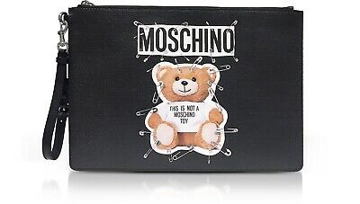 SS17 Moschino Couture Jeremy Scott TEDDY BEAR PRINCESS QUILTED PINK MINI CLUTCH