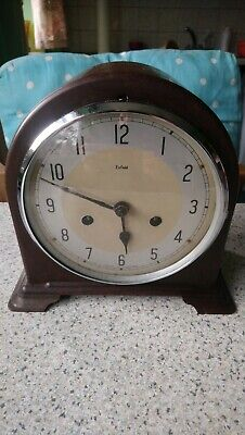 Vintage Smiths Enfield Bakelite 8 Day Striking Mantel Clock