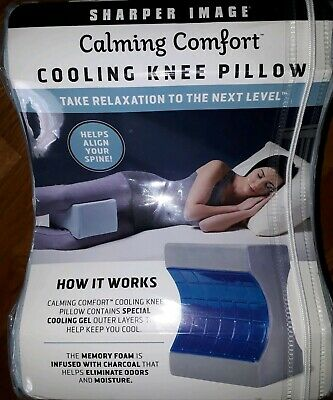 Sharper Image Calming Comfort Cooling Knee Pillow
