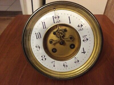 French Clock Movement With Visible Escapement, Japy Freres.