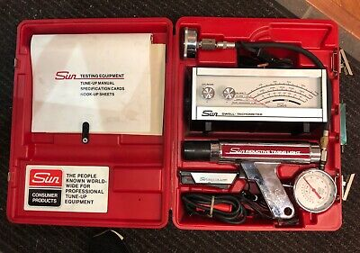VINTAGE 70's SUN TUNE-UP TESTING KIT EQUIPMENT QUALITY Clean Find