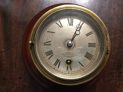 Small Size Ships Clock, Sewill of Liverpool.