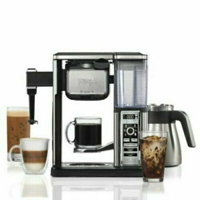 *New* Ninja CF097 Coffee Bar Auto-iQ Programmable Frother Maker Stainless Steel