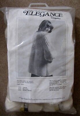 Elegance Cream Sweater Coat Knitting Kit By Emile Bernat & Sons Co.