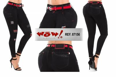WOW,Jeans Colombianos, Authentic Colombian Push Up Jeans,Levanta Cola,Butt Lift