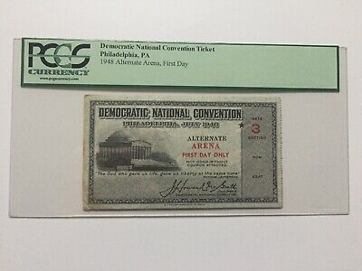 1948 Democratic National Convention President Harry Truman Alternate Ticket PCGS