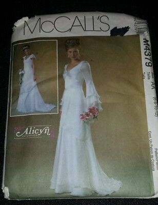McCalls Wedding Dress Sewing Pattern M4379 Item #  43791 Alicyn Exclusives