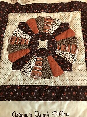 2-Lg. Hand Quilted Blocks For Pillows