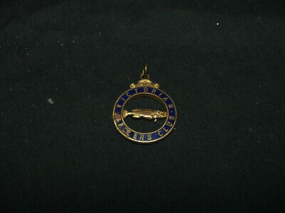 Victorian Anglers Club Fishing Badge 202, Stokes & Sons Melbourne