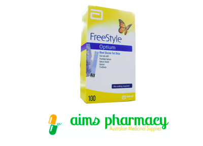 FreeStyle Optium Blood Glucose Test (100 Strips)