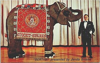 Postcard Golden Nugget Casino Sparks NV Bertha the Elephant Reno C3