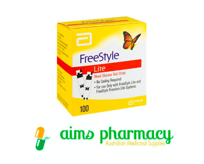 Abbott Freestyle LITE Blood Glucose Test Strips - 100 Strips