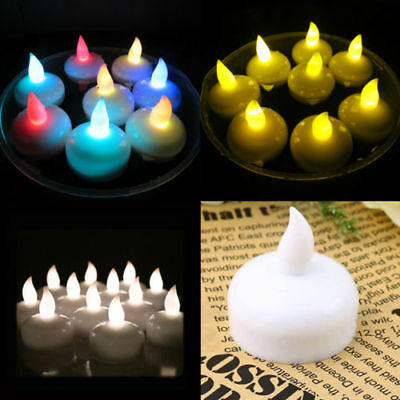 Flameless Waterproof LED Tea Light Candles Water Floating Sensor Wedding Party